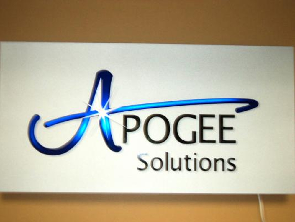 Back lit sign - Apogee