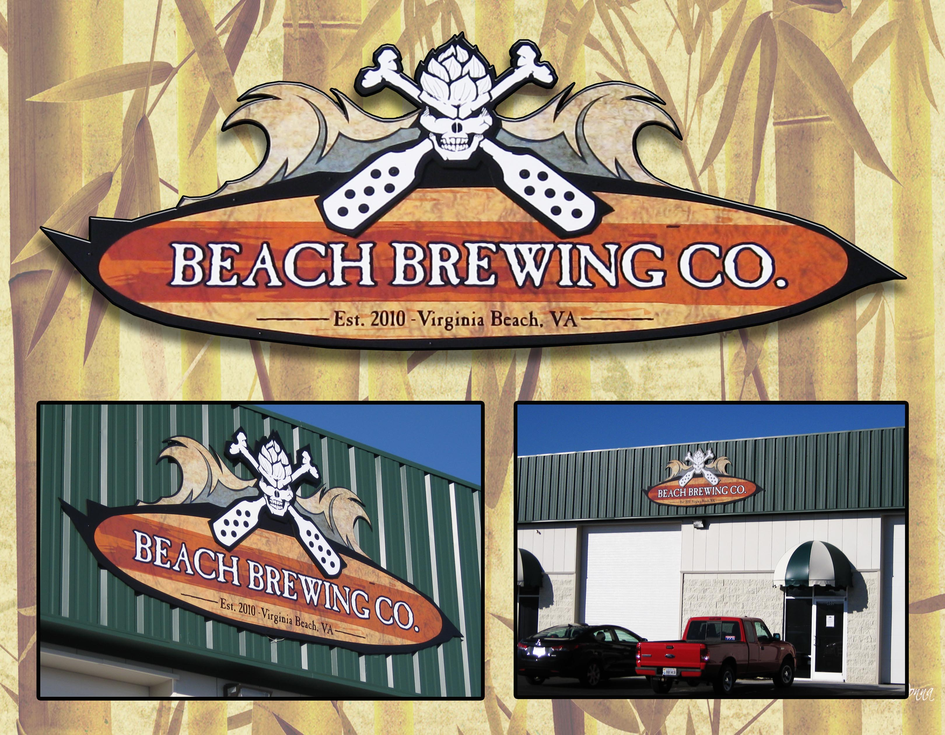 Beach Brewing Co. Signage