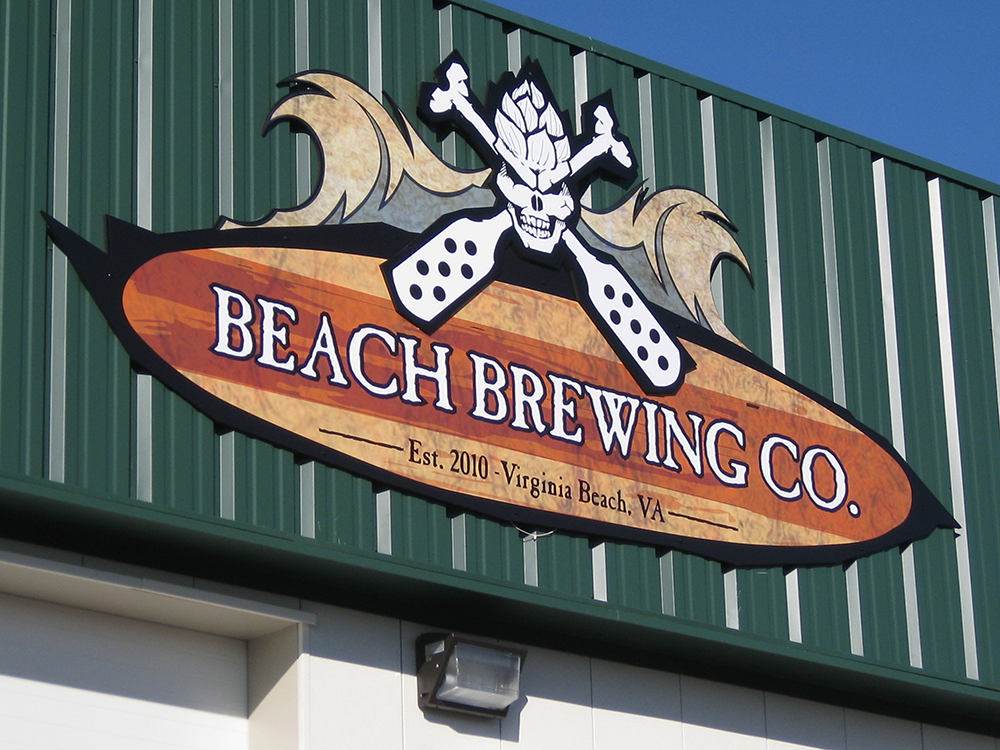 building sign - Beach Brewing Co.