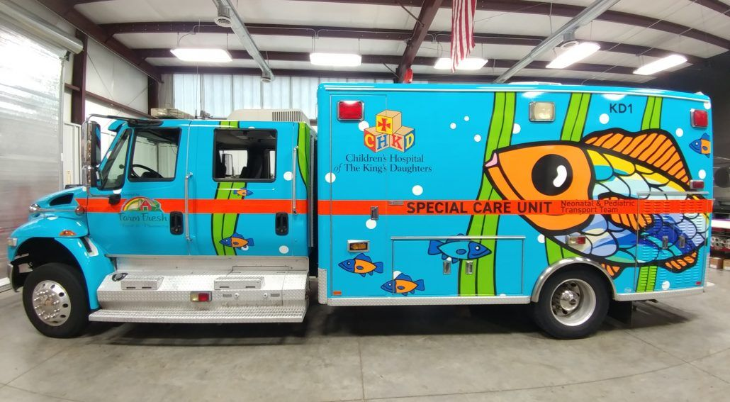CHKD ambulance wrap - OnieTonie™ design